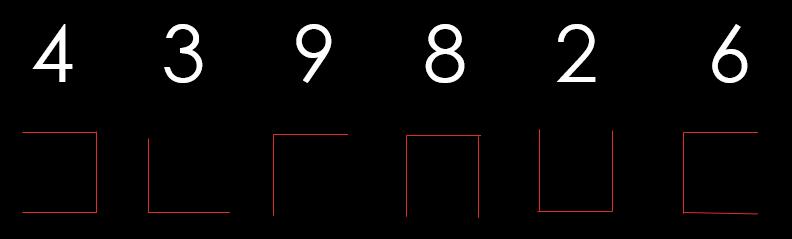 Código de líneas con el numero 439826